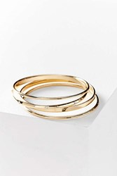 Urban Outfitters Simple Bangle Bracelet Set Gold