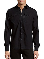 G Star Long Sleeve Cotton Button Down Shirt Dip And Dry