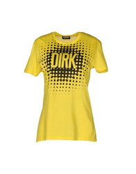 Dirk Bikkembergs Sport Couture T Shirts Yellow
