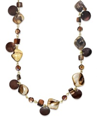 Style And Co. Necklace Brown Shell Long Necklace