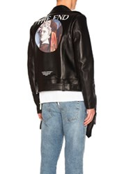 Off White Chirico Biker Jacket In Black