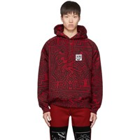 Etudes Studio Red And Black Keith Haring Edition Odysseus Hoodie