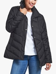 Four Seasons V Shaped Quilted Jacket Black