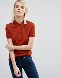 Fred Perry Twin Tipped Polo Shirt Red Clay