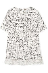 Adam By Adam Lippes Printed Crepe Top White