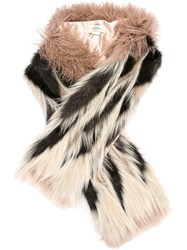 Urbancode Faux Fur Scarf Pink And Purple