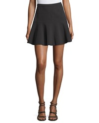 Halston Drop Waist Fit And Flare Skirt Black