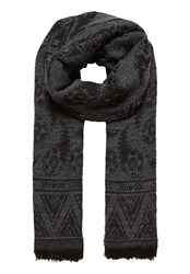 Hallhuber Double Layer Jacquard Scarf Grey