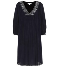 Velvet Trista Cotton Blend Kaftan Blue