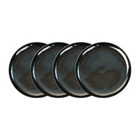 Canvas Home Dauville Charcoal Coasters Set Of 4 Platinum