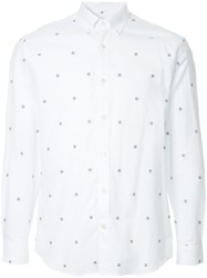 Gieves And Hawkes Micro Embroidered Details Shirt White