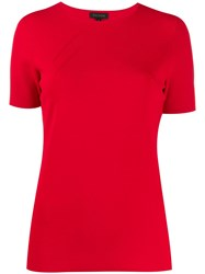 Escada Slim Fit Knitted Top Red