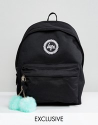 Hype Exclusive Backpack In Black With Teal Pom Black