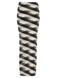 Stella Mccartney Striped Sheer Knit Maxi Skirt