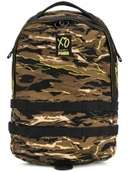 Puma Xo Camouflage Backpack Cotton Brown