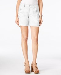 Inc International Concepts Linen Curvy Fit Shorts Only At Macy's Bright White