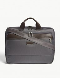 Briggs And Riley Work Slim Nylon Briefcase Grey