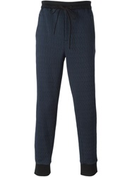 3.1 Phillip Lim Quilted Track Pants Blue
