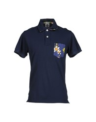 Franklin And Marshall Topwear Polo Shirts Men Dark Blue