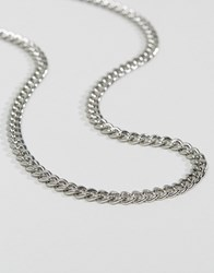 Asos Design Midweight Chain In Silver