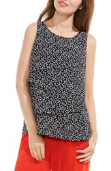 Vince Camuto Women's Dotted Harmony Tiered Blouse
