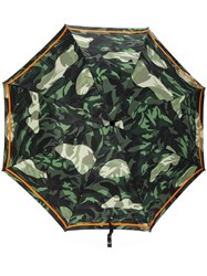 Alexander Mcqueen Skull Handle Umbrella Green