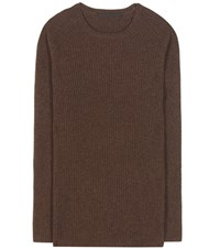 Haider Ackermann Wool And Cashmere Sweater Brown