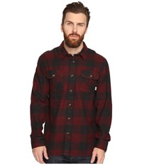 Vans Hixon Light Flannel Shirt Port Royale Black Men's Long Sleeve Button Up Gray