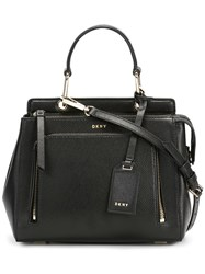 Dkny Small Zip Pocket Tote Black