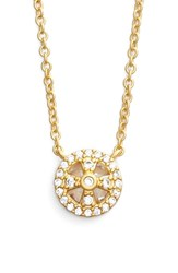 Women's Freida Rothman 'Metropolitan' Small Pendant Necklace Gold Clear