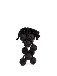 Rosie Assoulin Manishewitz Crochet Earring Black