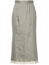 Cityshop Frayed Edge Skirt Grey