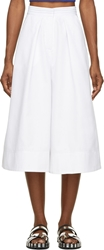 Ostwald Helgason White Pleated Pillar Shorts