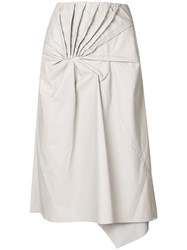Drome Tie Knot Skirt Nude And Neutrals