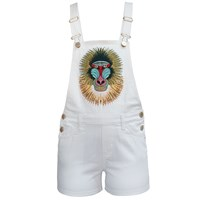 My Pair Of Jeans Baboon Short Overalls White