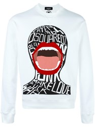 Dsquared2 Screaming Graphic Sweatshirt White