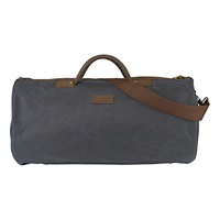Barbour Wax Cotton Round Holdall Navy
