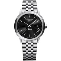 Raymond Weil 2237 St Beat2 Men's Maestro The Beatles Abbey Road Limited Edition Date Bracelet Strap Watch Silver Black