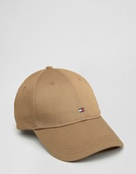 Tommy Hilfiger Logo Baseball Cap In Stone Stone