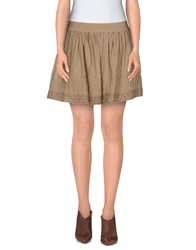 Guru Mini Skirts Khaki