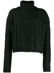 Twin Set Cable Knit Jumper Black