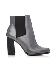 Wallis Grey Leather Ankle Boot