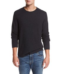 Vince Raw Edge Crewneck Sweatshirt Navy