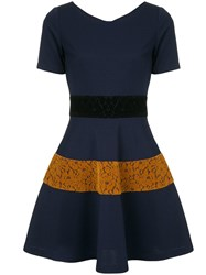 Guild Prime Lace Panelled Dress Blue