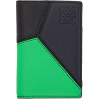 Loewe Green And Blue Puzzle Bifold Wallet