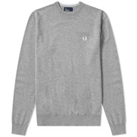Fred Perry Classic Crew Knit Grey