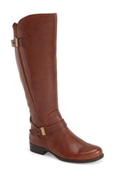 Women's Naturalizer 'Joan' Riding Boot Brown Leather Wide Calf