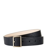 Paul Smith Accessories No.9 Embossed Belt Unisex Black