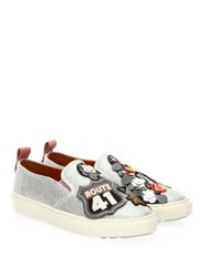 Coach Route 41 Leather Sneakers Silver