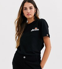 Ellesse T Shirt With Embroidered Chest Logo Black